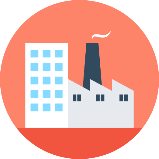 Industrial & Commercial building icon